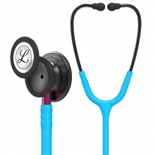 "Littmann® Classic III™ Monitoring Stethoscope: Smoke Chestpiece, Turquoise Tube, Pink Stem and Smoke Headset 5872 (27"" Length)"